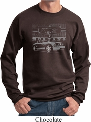 Ford Mustang with Grill Sweatshirt