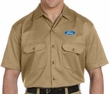 Ford Oval Mens Logo Work Shirt (above pocket print)