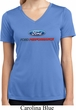 Ford Performance Parts Ladies Moisture Wicking V-neck Shirt