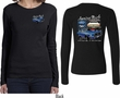 Ford Tee 1967 Mustang (Front & Back) Ladies Long Sleeve