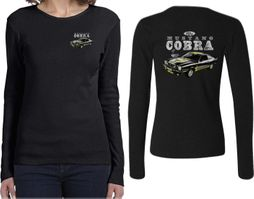 Ford Tee 1974 Cobra Profile (Front & Back) Ladies Long Sleeve