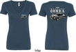 Ford Tee 1974 Cobra Profile (Front & Back) Ladies V-neck