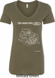 Ford Tee Engine Parts Ladies V-Neck