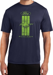 Ford Tee Green Mustang Stripe Dry Wicking T-shirt
