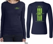 Ford Tee Green Mustang Stripe (Front & Back) Ladies Long Sleeve