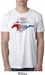 Ford Tee Mustang Red White and Blue Burnout Shirt