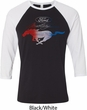 Ford Tee Mustang Red White and Blue Raglan Shirt