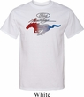 Ford Tee Mustang Red White and Blue Tall Shirt