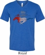 Ford Tee Mustang Red White and Blue Tri Blend V-neck