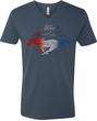 Ford Tee Mustang Red White and Blue V-neck