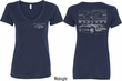 Ford Tee Mustang with Grill (Front & Back) Ladies V-neck