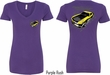 Ford Tee Yellow Mustang Boss (Front & Back) Ladies V-neck