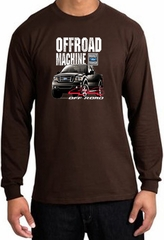 Ford Truck Long Sleeve Shirt - F-150 4X4 Offroad Machine Brown T-Shirt