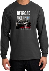 Ford Truck Long Sleeve Shirt - F-150 4X4 Offroad Machine Charcoal Tee