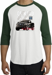 Ford Truck Raglan Shirt - F-150 4X4 Offroad Machine Adult White/Forest