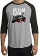 Ford Truck Raglan Shirt - F-150 4X4 Offroad Machine Heather Grey/Black