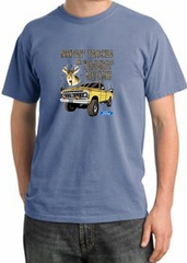 Ford Truck Shirt Driving and Tagging Bucks Pigment Dyed Tee Night Blue