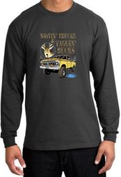 Ford Truck Shirts- Driving and Tagging Bucks Long Sleeve T-Shirts