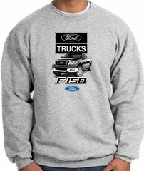 Ford Truck Sweatshirt - F-150 Truck Adult Athletic Heather Sweat Shirt