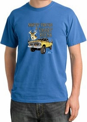 Ford Truck T-Shirt Driving and Tagging Bucks Pigment Dyed Medium Blue