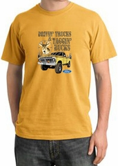 Ford Truck T-Shirt Driving and Tagging Bucks Pigment Dyed Tee Mustard