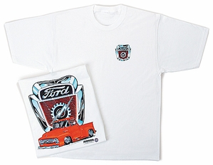 Ford Truck T-Shirt - F-100 Classic White Adult White Tee Shirt