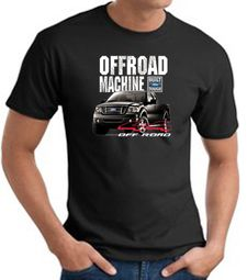 Ford Truck T-Shirt - F-150 4X4 Offroad Machine Adult Black Tee Shirt