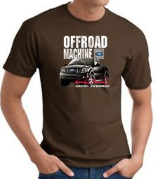 Ford Truck T-Shirt - F-150 4X4 Offroad Machine Adult Brown Tee Shirt