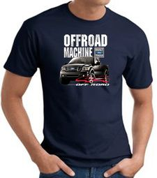 Ford Truck T-Shirt - F-150 4X4 Offroad Machine Adult Navy Tee Shirt