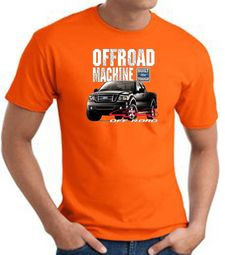 Ford Truck T-Shirt - F-150 4X4 Offroad Machine Adult Orange Tee Shirt