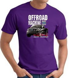 Ford Truck T-Shirt - F-150 4X4 Offroad Machine Adult Purple Tee Shirt