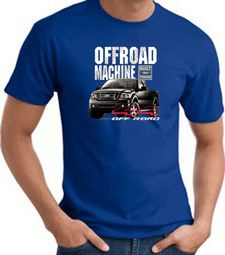 Ford Truck T-Shirt - F-150 4X4 Offroad Machine Adult Royal Tee Shirt