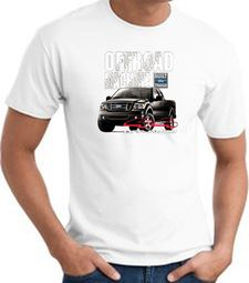 Ford Truck T-Shirt - F-150 4X4 Offroad Machine Adult White Tee Shirt