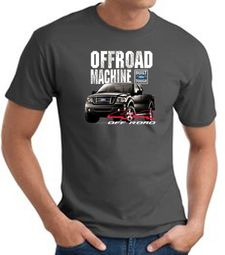 Ford Truck T-Shirt - F-150 4X4 Offroad Machine Charcoal Tee Shirt