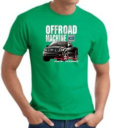 Ford Truck T-Shirt - F-150 4X4 Offroad Machine Kelly Green Tee Shirt