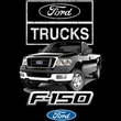 Ford Truck T-Shirt - F-150 Truck Adult Pink Tee Shirt
