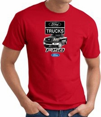 Ford Truck T-Shirt - F-150 Truck Adult Red Tee Shirt