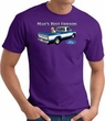 Ford Truck T-Shirt - Man's Best Friend Adult Purple Tee Shirt