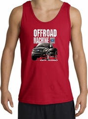 Ford Truck Tank Top - F-150 4X4 Offroad Machine Adult Red Tanktop