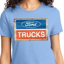 Ford Trucks Logo Ladies Shirts