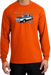 Ford Trucks Long Sleeve Shirt - Man's Best Friend Adult Orange T-Shirt