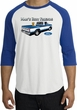 Ford Trucks Raglan Shirt - Man's Best Friend Adult White/Royal T-Shirt