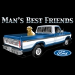 Ford Trucks Shooter Shirt - Man's Best Friend Adult Navy Muscle Shirt