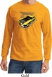 Ford Vintage Yellow Mustang Boss Long Sleeve Shirt