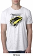 Ford Vintage Yellow Mustang Boss Mens White Burnout Shirt