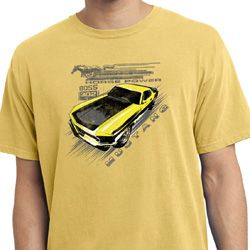 Ford Vintage Yellow Mustang Boss Pigment Dyed Shirt