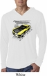 Ford Vintage Yellow Mustang Boss White Lightweight Hoodie Shirt