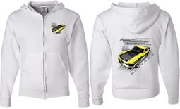 Ford Yellow Mustang Boss (Front & Back) Full Zip Hoodie