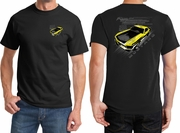 Ford Yellow Mustang Boss Front & Back Shirts