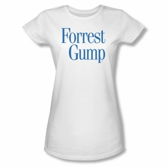 Forrest Gump Shirt Juniors Logo White Tee T-Shirt
